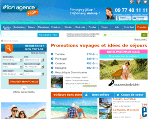 Monagence.com voyager pas cher