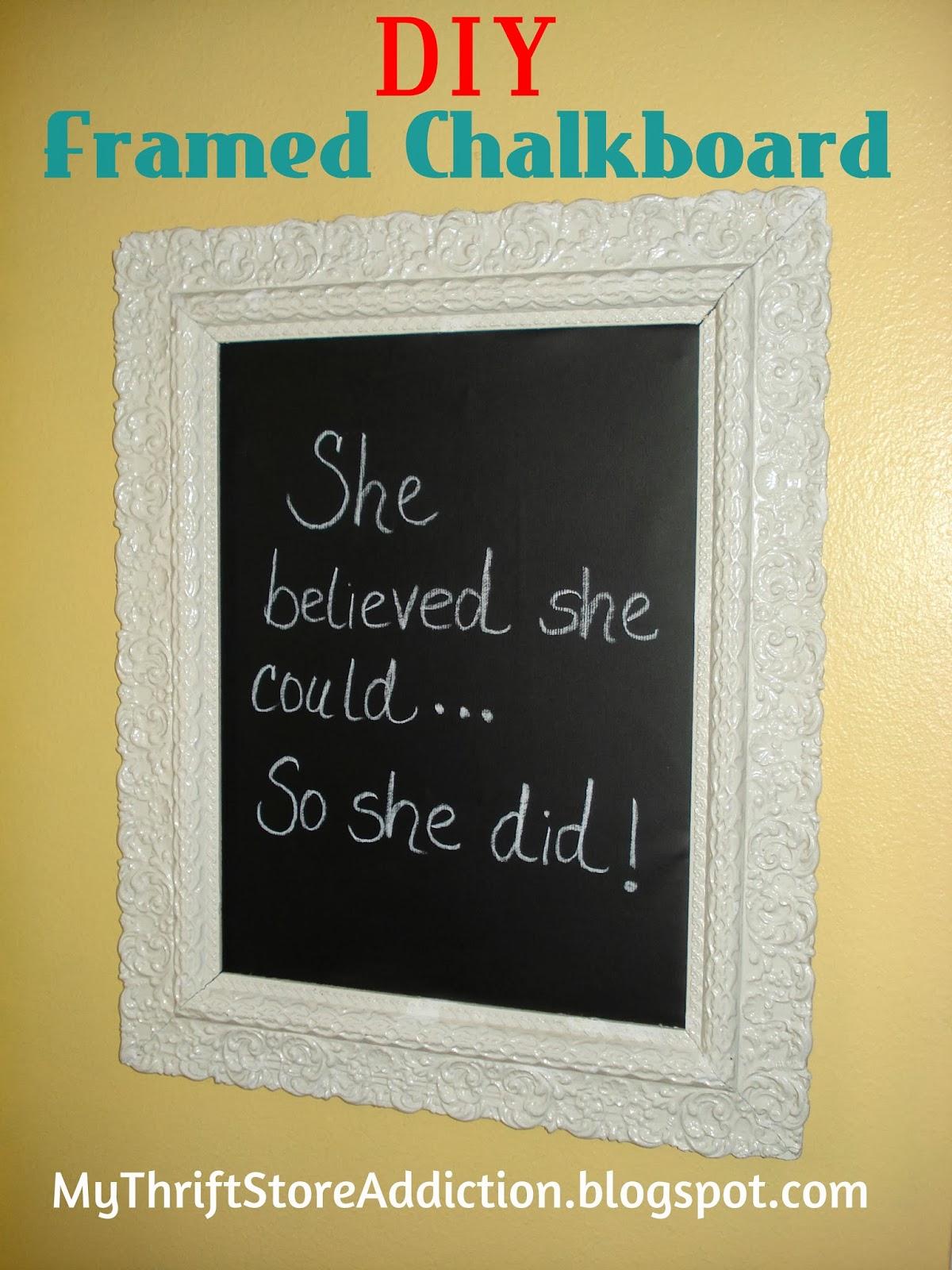 DIY Vintage Framed Chalkboard