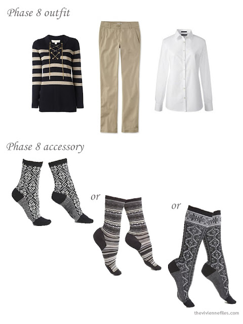 Adding novelty socks to a capsule wardrobe