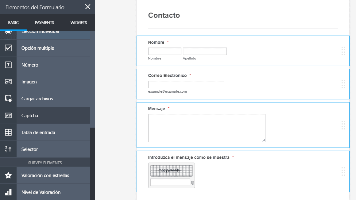 jotform tutorial required requerido validar formulario