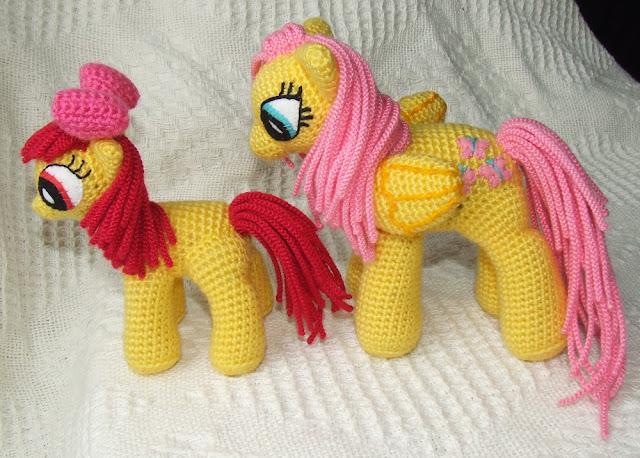wzory konikow pony szydelkiem