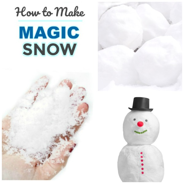 FUN KID PROJECT:  Make MAGIC SNOW! Only 2-ingredients #snowrecipeforkids #playrecipes #playrecipesforkids