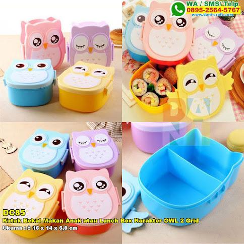Kotak Bekal Makan Anak Atau Lunch Box Karakter OWL 2 Grid