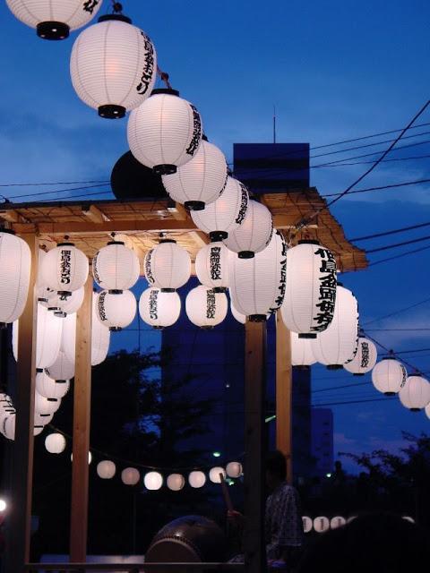 Tsukudajima-no-Bon Odori - Folk Dancing Festival - at Tsukuda 1-chome area, Chuo-ku, Tokyo