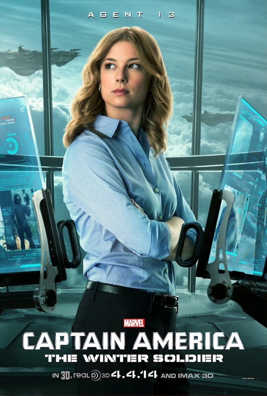 Captain America The Winter Soldier Teaser Character Movie Poster - Emily VanCamp as Agent 13 Sharon Carter