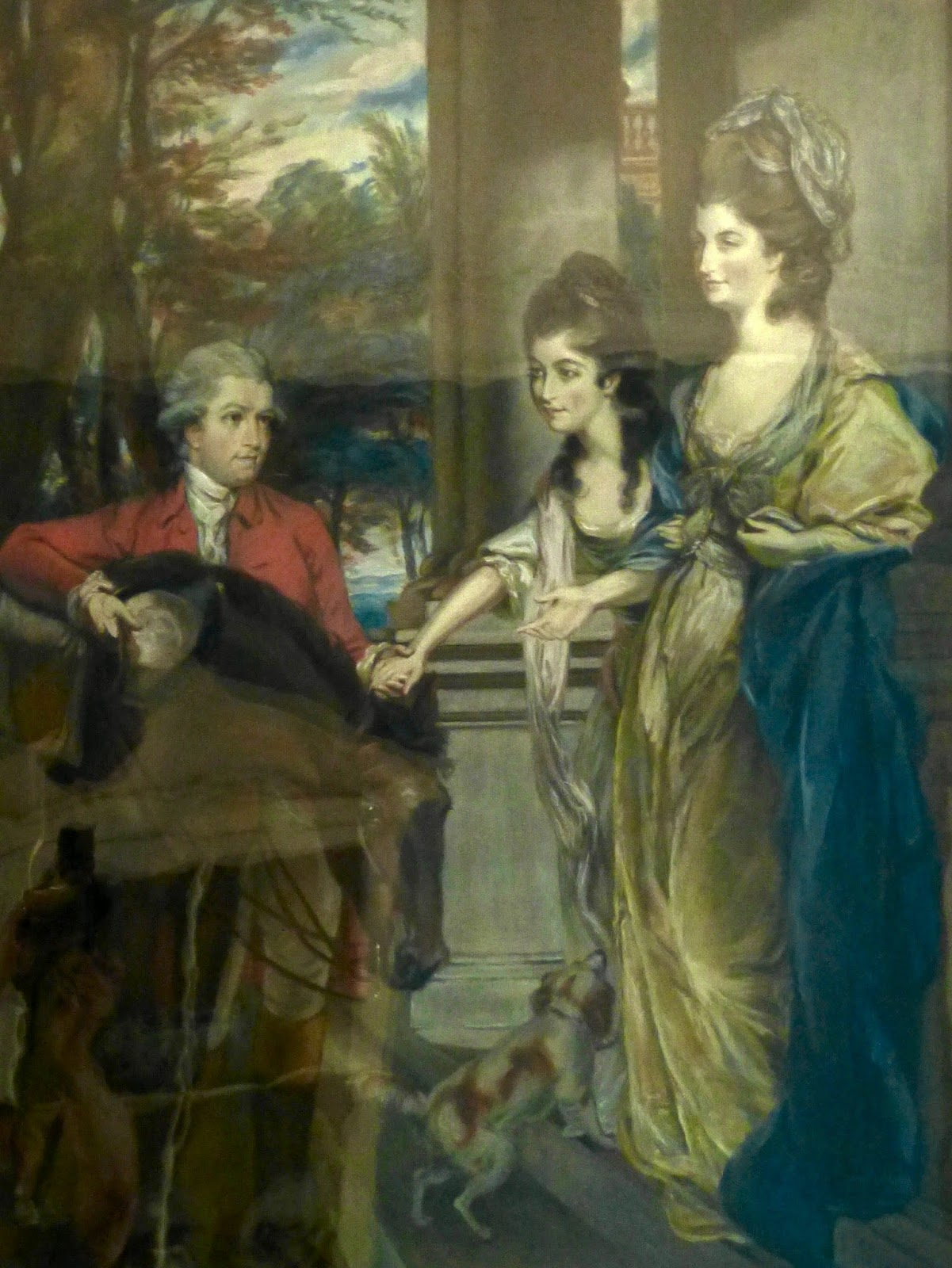 Robert and Sarah Child and their daughter Sarah   Anne by Margaret Battine after Daniel Gardner  Portrait originally created in 1781