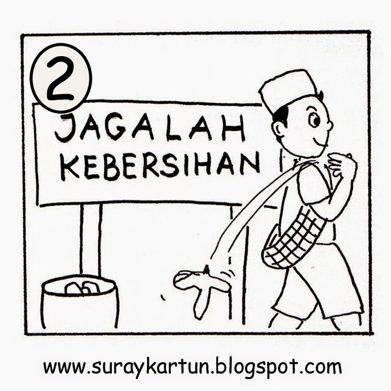 Contoh Gambar Karikatur Kebersihan Koleksi Gambar Hd