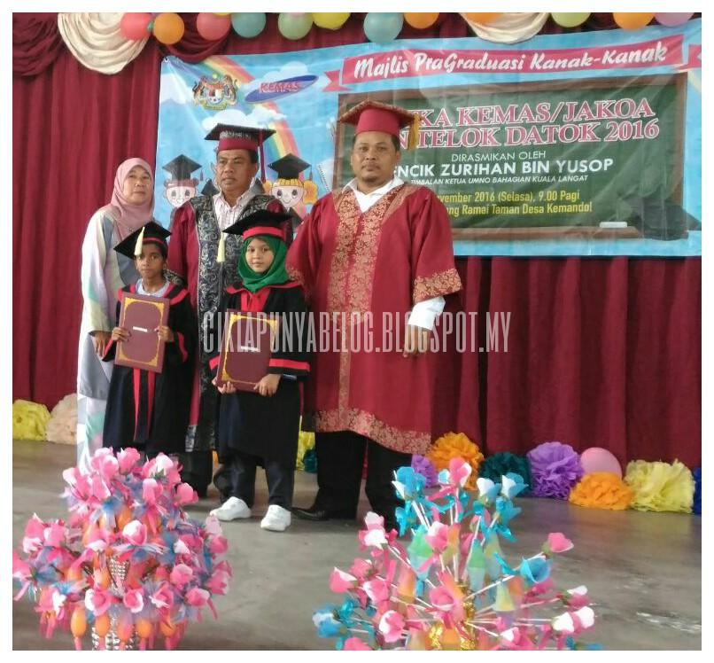 Majlis Pragraduasi Kanak Kanak Tabika Kemas/Jakoa dun Teluk Datuk 2016.