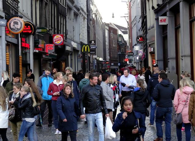 Kalverstraat shopping street in Amsterdam