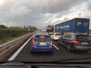 Traffico A1 da Napoli a Roma