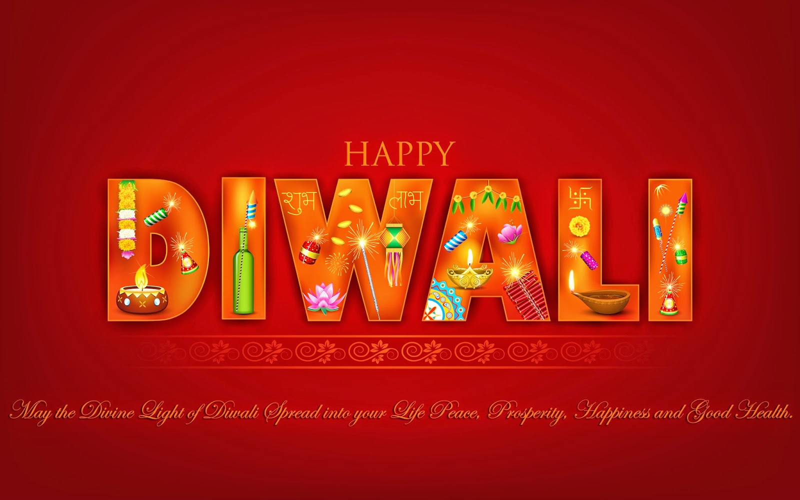 happy diwali with crackers image