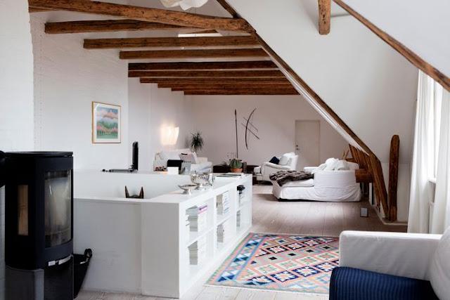 Noir blanc un style - Appartement sous les toits ...