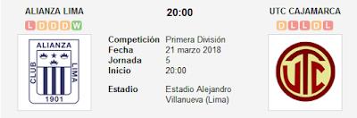 Alianza Lima vs UTC Cajamarca en VIVO