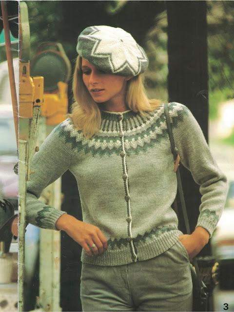 The Vintage Pattern Files: Free 1980s Knitting Pattern - Patons No. 671 Fair Isle Fashion for Ladies & Men