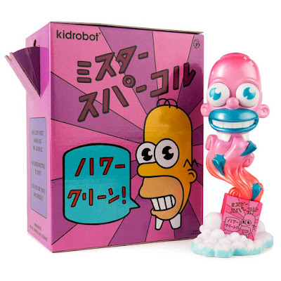 Five Points Festival Exclusive The Simpsons Mr. Sparkles Pink Edition Vinyl Figure by Kidrobot