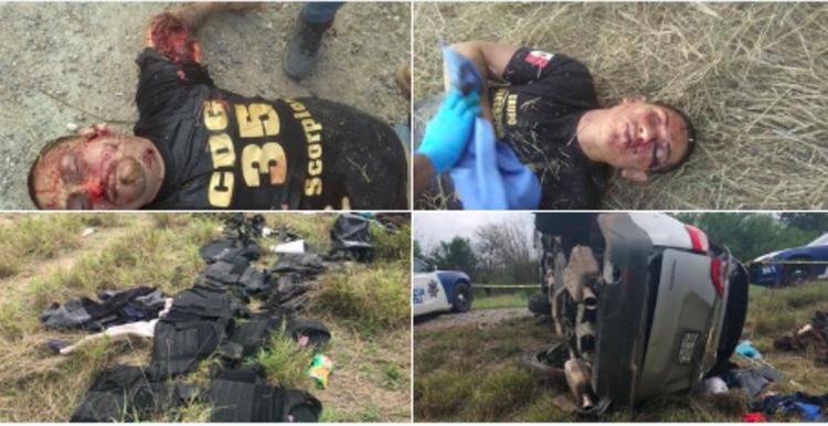 """Perforados a balazos quedan dos """"Scorpiones"""" del CDG al enfrentarse a Fuerza Tamaulipas"""