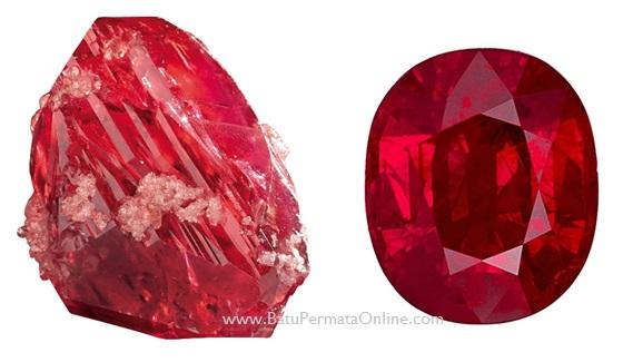 Batu Safir merah (dikenal sebagai batu Ruby)