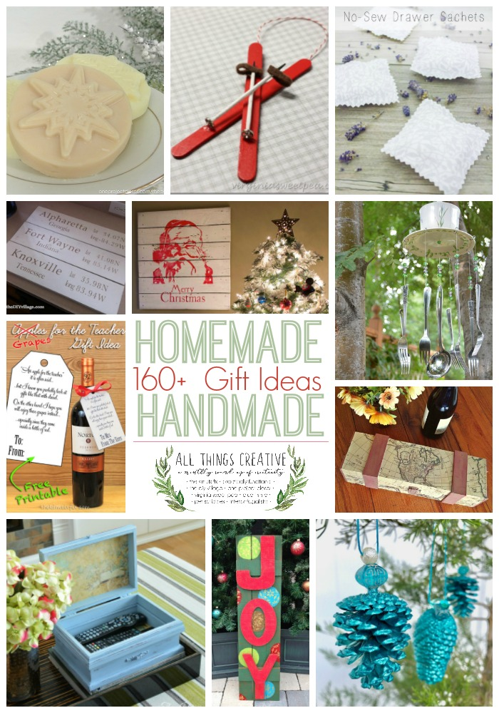 162 Homemade or Handmade Gift Ideas for the holidays