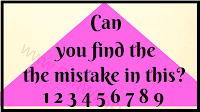 Can you find the the mistake 1 2 3 4 5 6 7 8 9