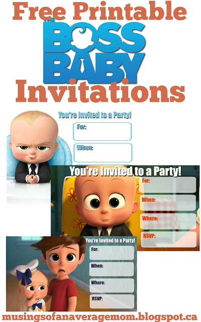 free printable boss baby inivitations
