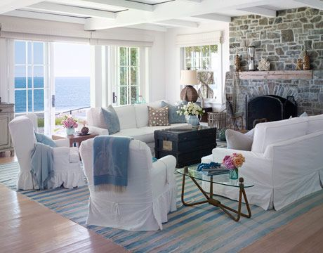 302 Coastal Living Room Themed Decorating Ideas
