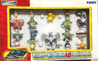 Lucario figure crouching pose in Tomy Monster Collection AG 18 figures set