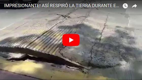 """Aparece vídeo que muestra cómo """"Respiraba"""" la tierra durante el terremoto de México"""