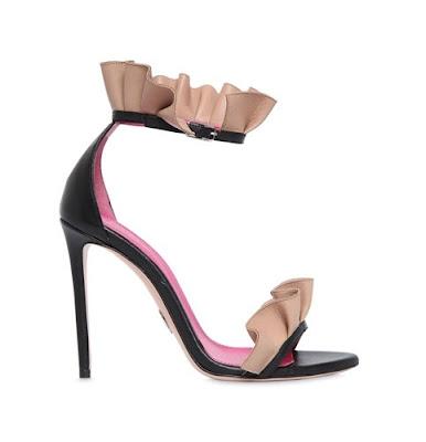 Oscar Tiye  Antoinette Ruffle Sandals
