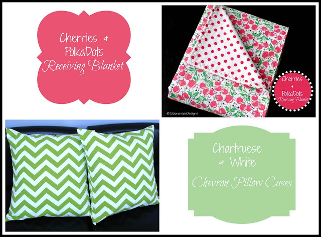 chevron green white pillow cases and baby blankets new on etsy