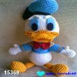 patron gratis pato Donald amigurumi, free amigurumi pattern Donald duck