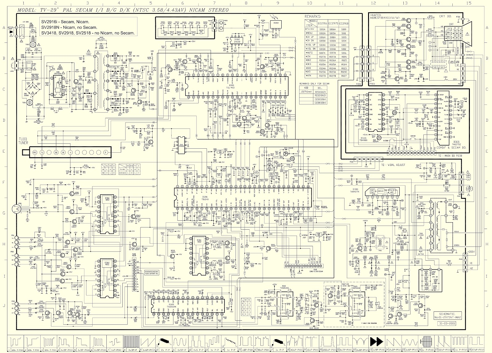 Schematic Diagrams  Sansui Sv2918 Circuit Diagram