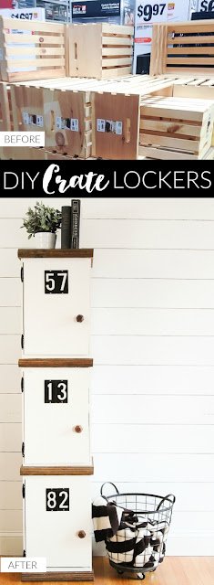 Diy lockers using crates