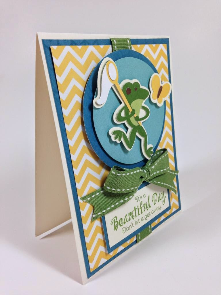 Cricut Campin' Critters Beautiful Day card side view
