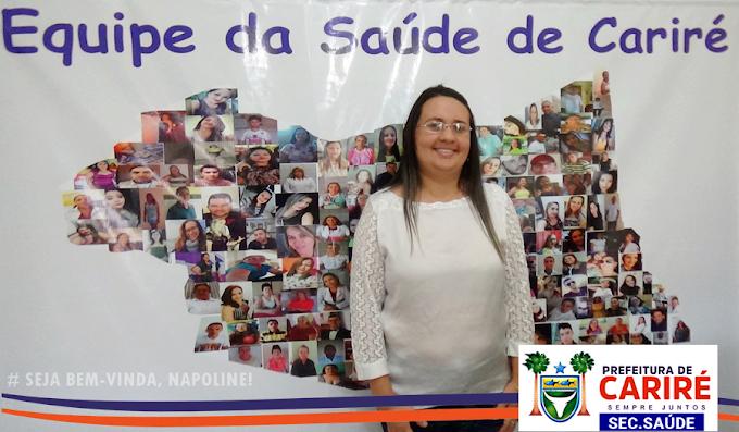 Napoline Melo assume a Secretaria da Saúde de Cariré e conta com experiência profissional na área social e da saúde pública