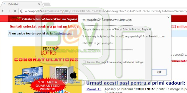 W.newprice247.expresswin.top pop-ups
