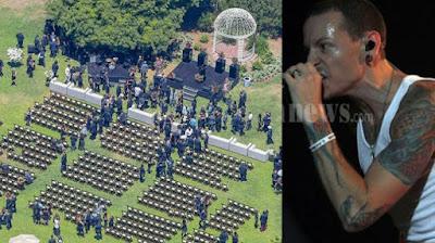 Pemakaman Vokalis Linkin Park yang Tertutup Akhirnya Bocor! Foto-fotonya Tersebar