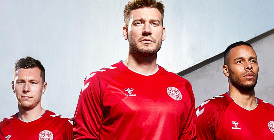 Hummel just released the highly anticipated Denmark 2018 World Cup home and away  kits. Although they are quite understated at first sight 548154ec6