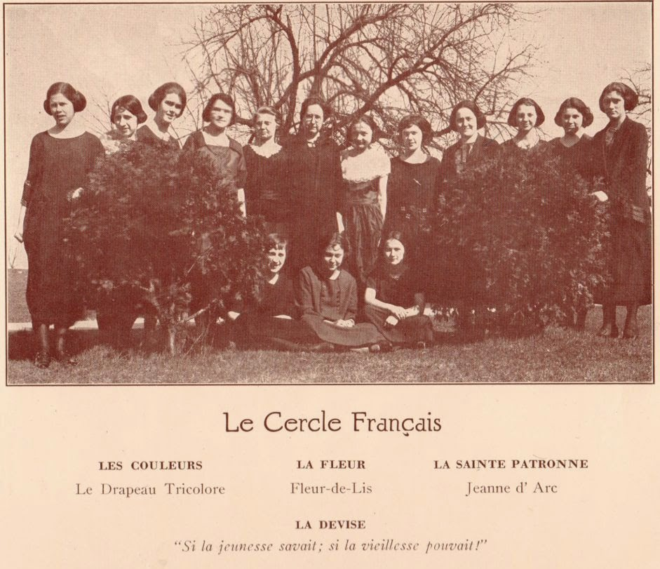 The French Club at Harrisonburg Normal School 1923  http://jollettetc.blogspot.com