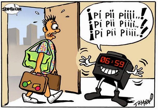Viñeta Humor Mora Sindrome Postvacacional 2014