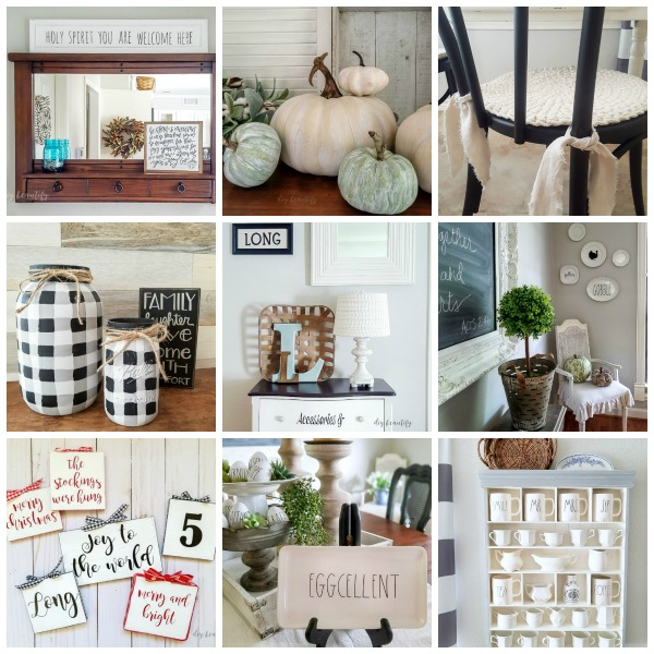roundup of thrifty projects and home decor ideas