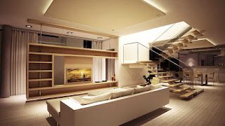 Ruang keluarga minimalis dari bahan kayu yang unik dan termodern