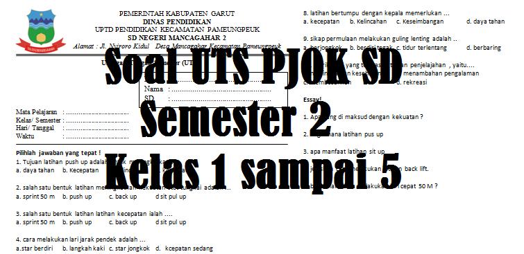 Contoh Soal UTS PJOK SD