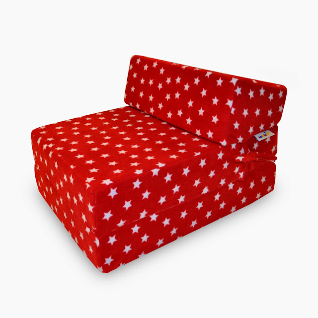 red memory foam sofa bed for glamping and camping
