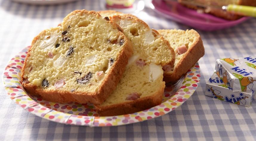 recette cake au jambon olives et kiri. Black Bedroom Furniture Sets. Home Design Ideas