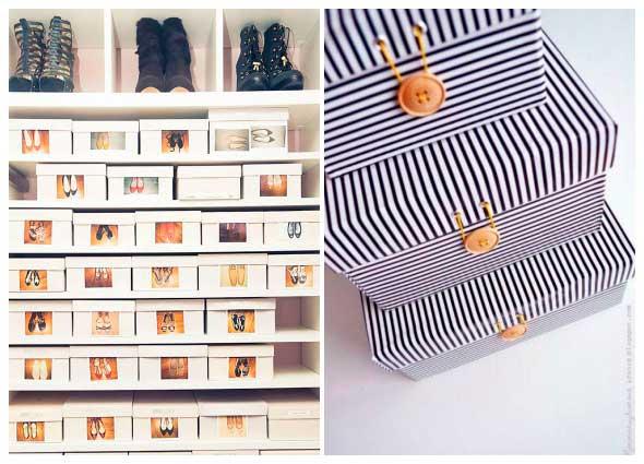 diys cajas zapatos, manualidades,organizar