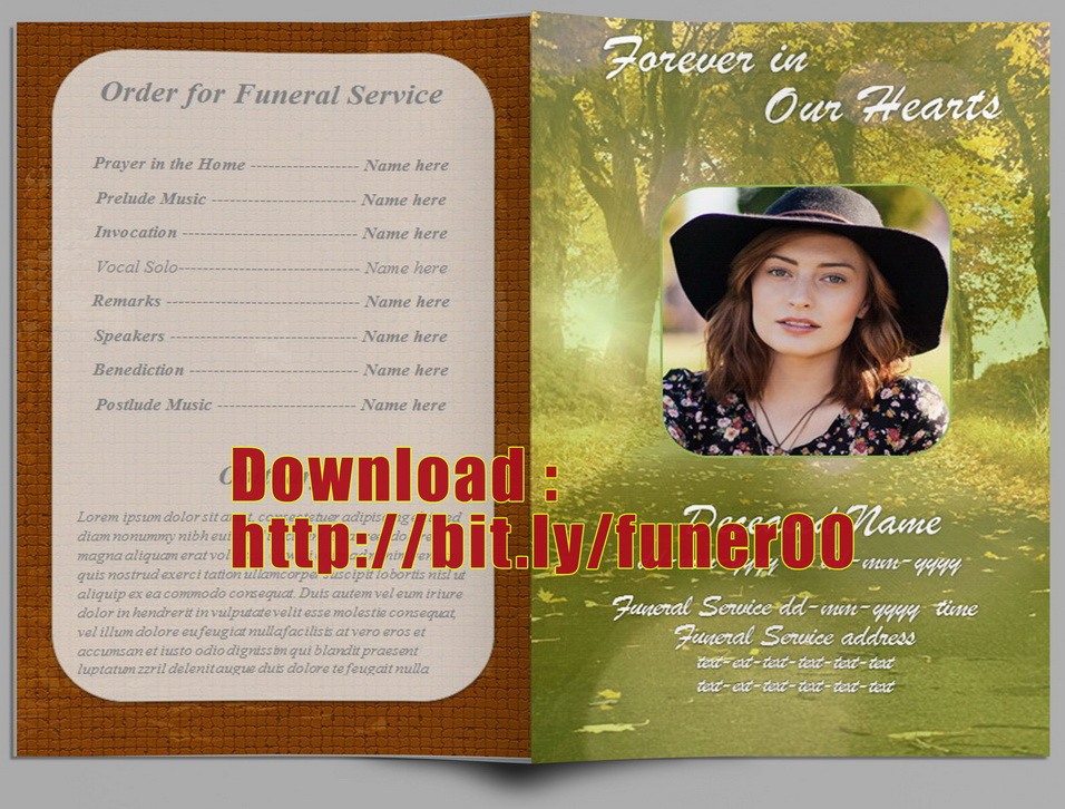 Free Spanish Memorial Cards For Funeral Template Download