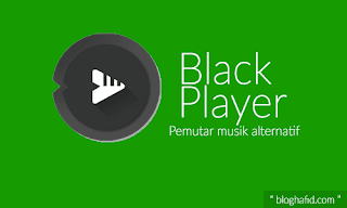 Aplikasi pemutar musik black player