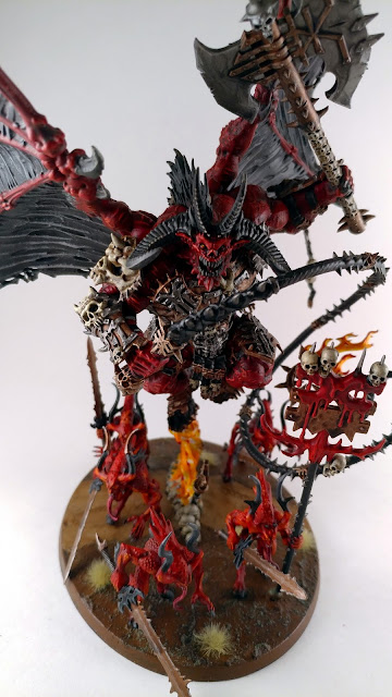 Bloodthirster of Unfettered Fury with Bloodletters Painted - Fortress Erioch