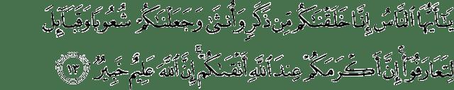 Surat Al-Hujurat ayat 13