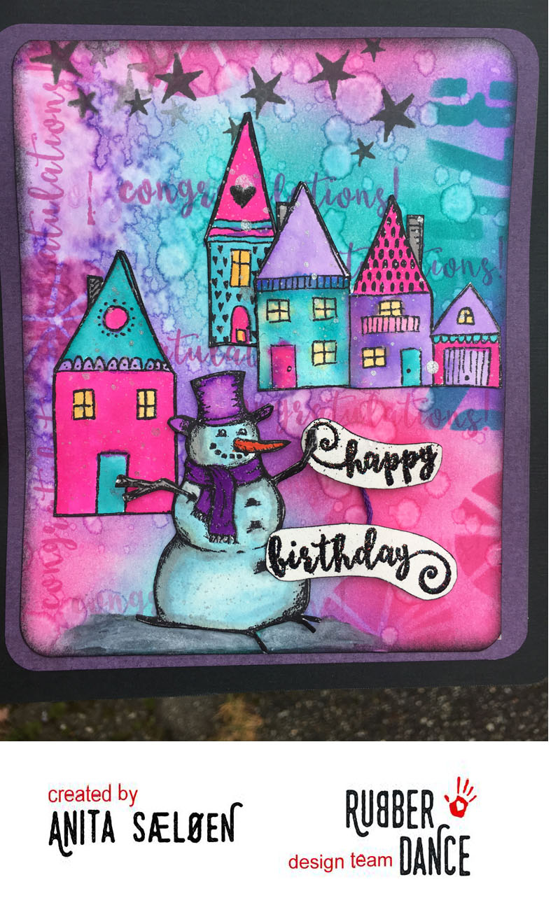 Rubber Dance Blog Happy Birthday Card With Bright Colours